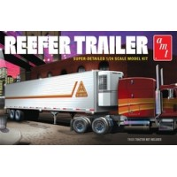 1:24 Scale Refrigerated Semi Trailer Plastic Model Kit - Level 3
