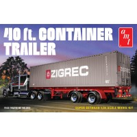 1:24 Scale 40ft Shipping Container Trailer Plastic Model Kit - Level 3