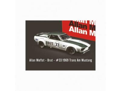 Acme 1:64 1969 Ford Trans Am Mustang - BRUT #33 Allan Moffat