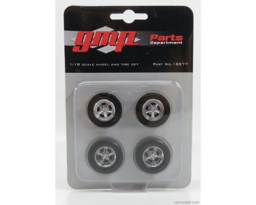 GMP 1:18 Mag Wheels and Tyres Set - 5-Spoke Cragar Style