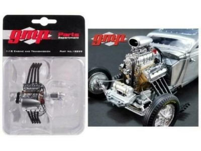 GMP 1:18 Blown Altered Drag Engine, Headers & Transmission