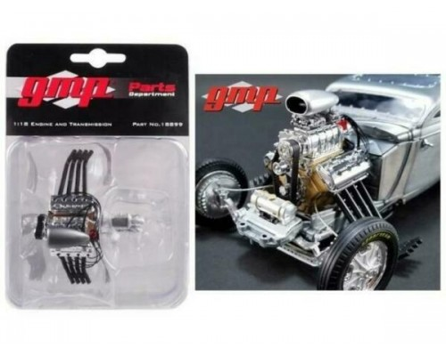 GMP 1:18 Blown Altered Drag Engine Headers & Transmission