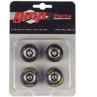 1:18 Scale Drag Wheels and Tyres Set - Pro Star 5 Spoke Style