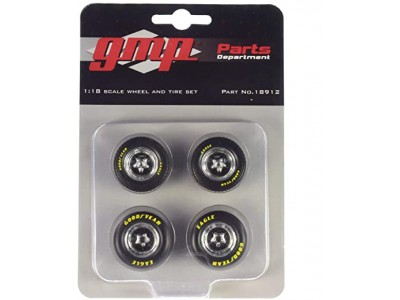 1:18 Scale Pro Star 5-Spoke Drag Wheels and Tyres Set of 4