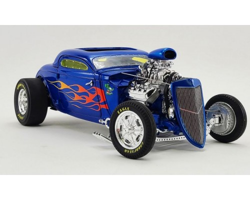 GMP 1:18 Rat Fink 1934 Ford Gasser - Blue with Flames