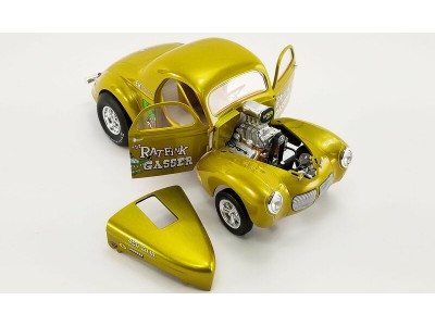 Acme 1:18 Rat Fink 1940 Ford Gasser - Yellow