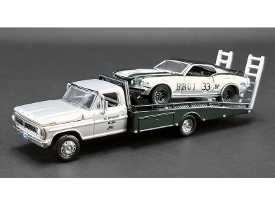 1:64 Scale 1969 Ford F-350 with Mustang - Allan Moffat BRUT 33