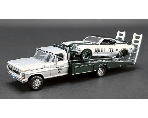 Acme 1:64 1969 Ford F-350 with Mustang - Allan Moffat BRUT 33