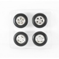 Acme 1:18 Mag Wheel and Tyres Set - Chrome Jelly Bean Style