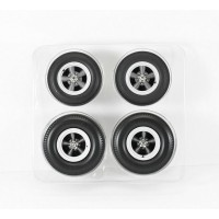 1:18 Scale Wheel Sets Cragar SS Grey 5 Spoke Style