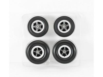 1:18 Scale Wheel Sets Cragar SS Grey 5 Spoke Style