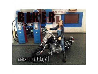 American Diorama 1:18 Model Lady Biker Figurine - Angel