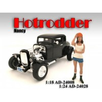 1:18 Scale Model Hotrodder Figurine - Nancy
