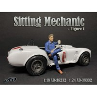 American Diorama 1:18 Workshop Mechanic Sitting Figurine