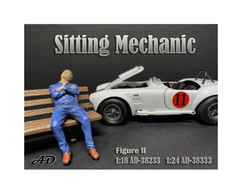 American Diorama 1:18 Model Sitting Mechanic Figurine II