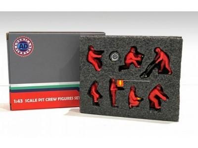 American Diorama 1:43 F1 Pit Crew Figurine Set - Team Red