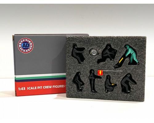American Diorama 1:43 F1 Pit Crew Figurine Set Team Black