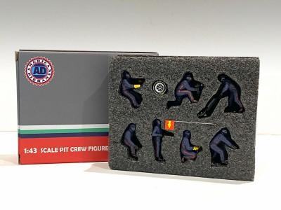 American Diorama 1:43 F1 Pit Crew Figurine Set - Team Blue