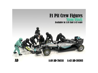 American Diorama 1:18 F1 Pit Crew Figurine Set - 3 Colors Available
