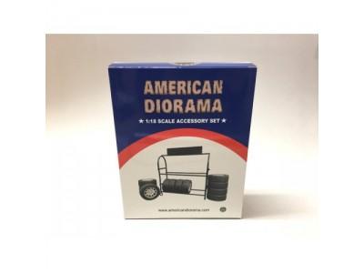 America Diorama 1:18 Spare Tyre Rack