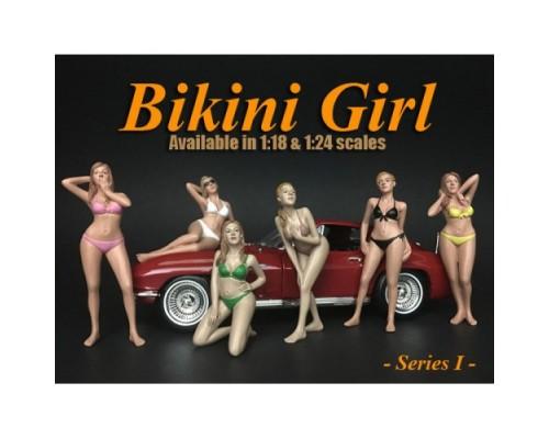 1:18 Scale Bikini Lady Figurines - Set Of 6