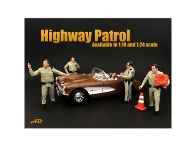 American Diorama 1:18 Model Highway Patrol Series Figurine