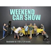 American Diorama 1:18 Model Weekend Car Show Figurines Your Choice