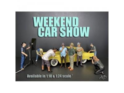 American Diorama 1:18 Model Weekend Car Show Series Figurines