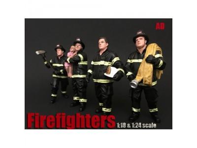 American Diorama 1:18 Model Firefighter Series Figurines