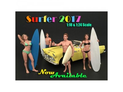 American Diorama 1:18 Model Surfer Series Figurines