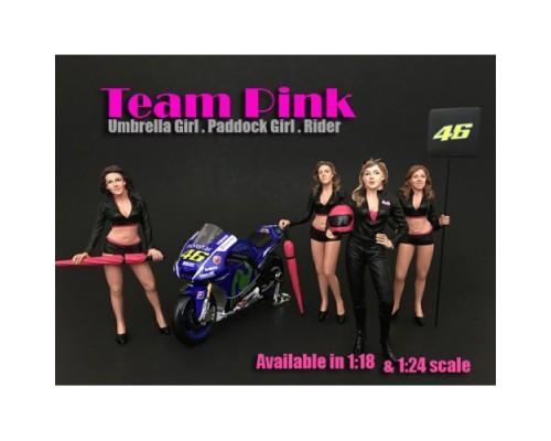 American Diorama 1:18 Model Team Pink Female Figurines