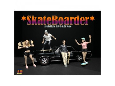 American Diorama 1:18 Model Skateboarder Series Figurines