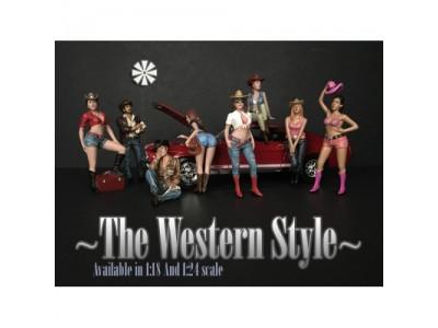 American Diorama 1:18 Model Western Style Figurines