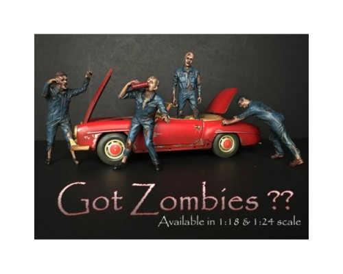American Diorama 1:18 Model Zombie Mechanic Figurine Series
