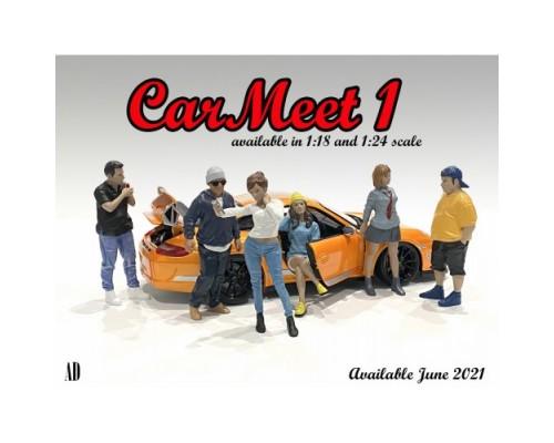 American Diorama 1:18 Car Meet Figurines Series I