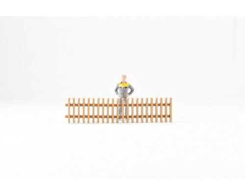 Aussie 3D 1:50 Fencing - Wooden  Picket - 4 Sections