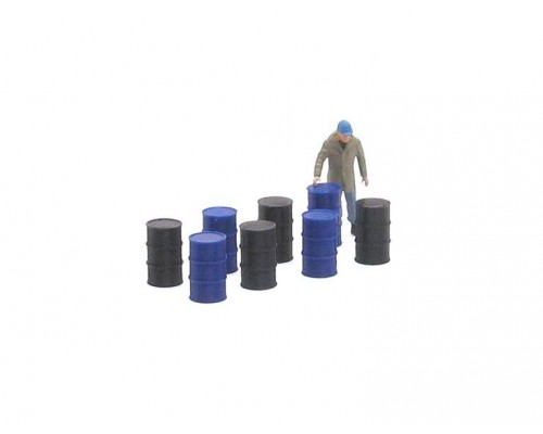 1:50 Scale 44 Gallon Drums - Qty 8