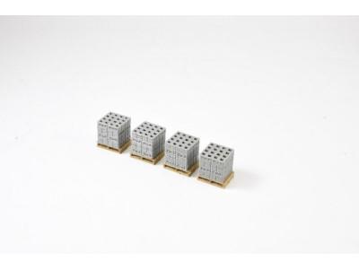 Aussie 3D 1:87 Concrete Boral Bricks on Pallets - Qty 4