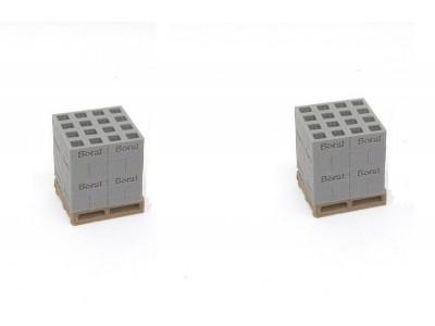 Aussie 3D 1:50 Concrete Boral Bricks on Pallets - Qty 2