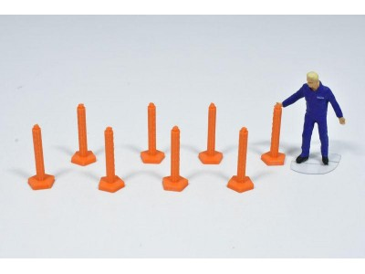 1:50 Scale Bollard Models  Pack Of 8 - Traffic Management