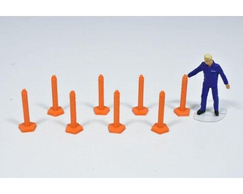 1:50 Scale Bollards - Pack Of 8 - Traffic Management