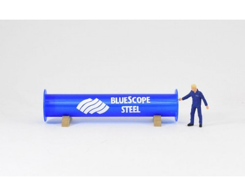Aussie 3D 1:50 Pipe Section with Pipe Cradles - Blue
