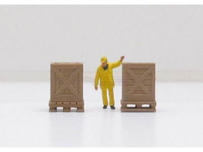 1:50 Scale Crate and Pallet Load - Pack of 2