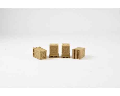 Aussie 3D 1:87 Shipping Crate and Pallet - Wooden - Qty 4