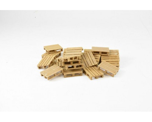 1:50 Scale Pallets - Small Wooden - Pack of 24