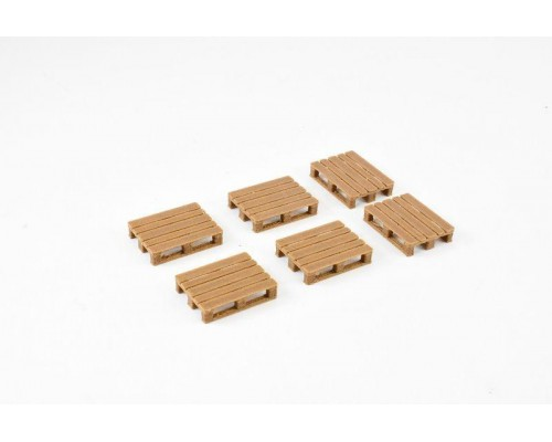 1:50 Scale Pallets - Small Wooden Model  Pack of 6