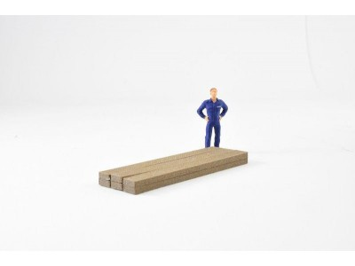 Aussie 3D 1:50  Wooden Timber Planks - Long - Qty 6