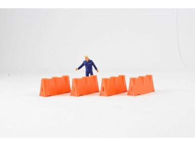 1:50 Scale Construction Safety Barrier Model  Orange