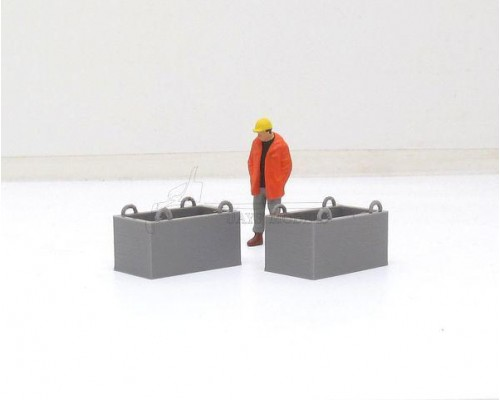 Aussie 3D 1:50 Construction  Site Bins - Small - Qty 2