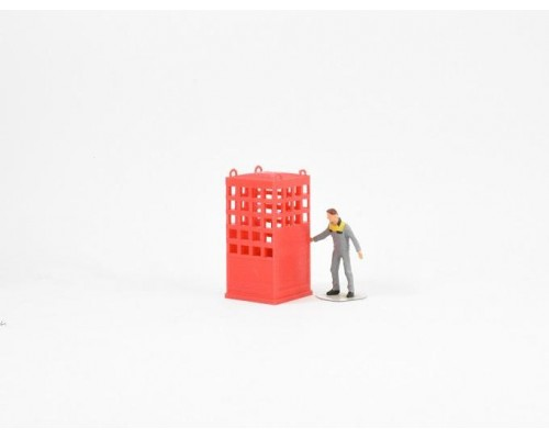 Aussie 3D 1:50 Crane Lifting Cage - Single Person - Red